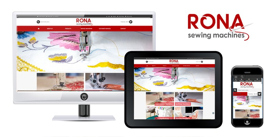Rona Sewing Machines Responsive OpenCart Ecommerce Website